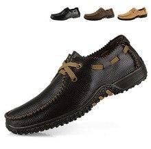 Новый 2017 Классические Мужские Оксфорды Обувь Из Натуральной Кожи, Весна Осень Мужчины Бизнес-Офис Обувь Мягкая Удобная Обувь Большой Размер 38 ~ 47
