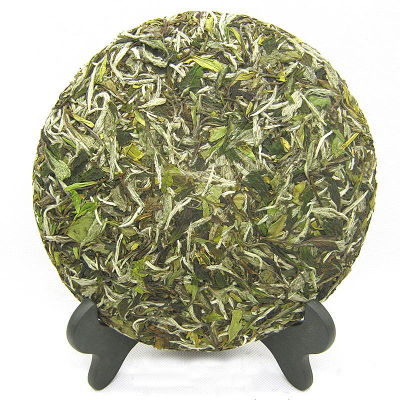 : C-PE097 Super Chinese Green Food Puer Tea Fuding White Tea cake 350g Sessile Silver Needle Natural Herbal White Peony bag
