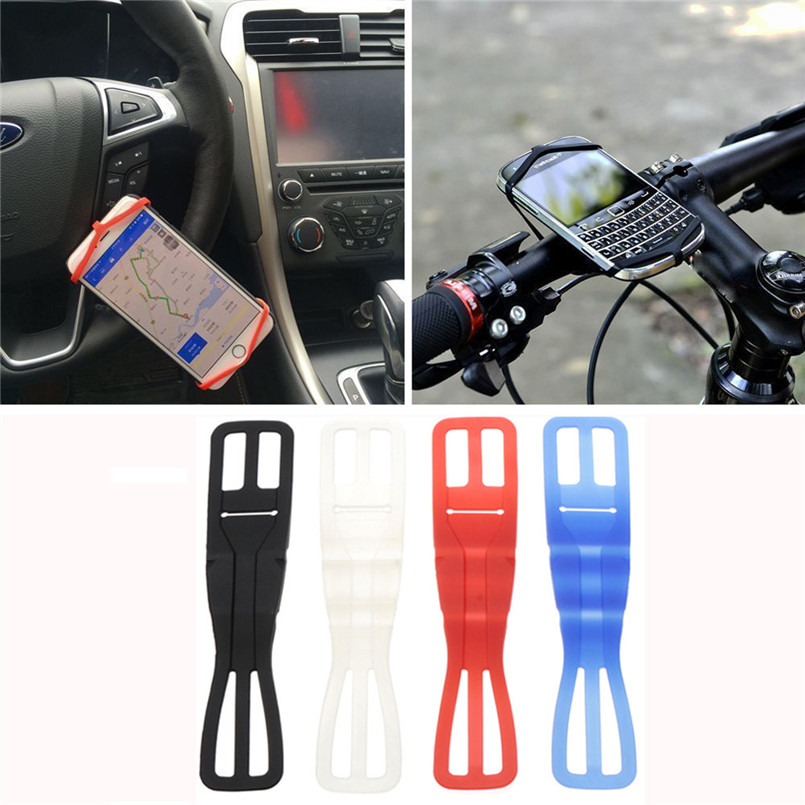 New arrival 2017 Universal Silicone Elastic Bicycle Motorcycle Bike Mount Holder For Mobile Phone universal bike bicycle silicone holding elastic strap for flashlight cell phone random color