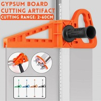 Manual Gypsum Board Cutter Household Artifact Tool with 10Pcs Blades Double Blade Board Cutter Adjustable Board Cutting Tools