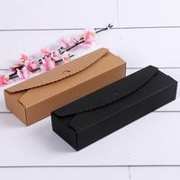 300pcs/lot Kraft Gift Boxes Paper handmade candy /chocolate packing box blank storage DIY wedding cake boxes 23*7*4cm