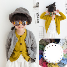Sweater Girl Boys Childrens Autumn Jacket Kids Girls Cardigans Knitted Coat Cotton Long Sleeves Winter Outwear