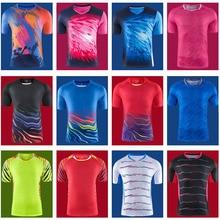 Новинка, мужские теннисные футболки, мужская быстросохнущая футболка для бадминтона, мужская спортивная одежда, синие настольные комплекты на заказ, ваше имя