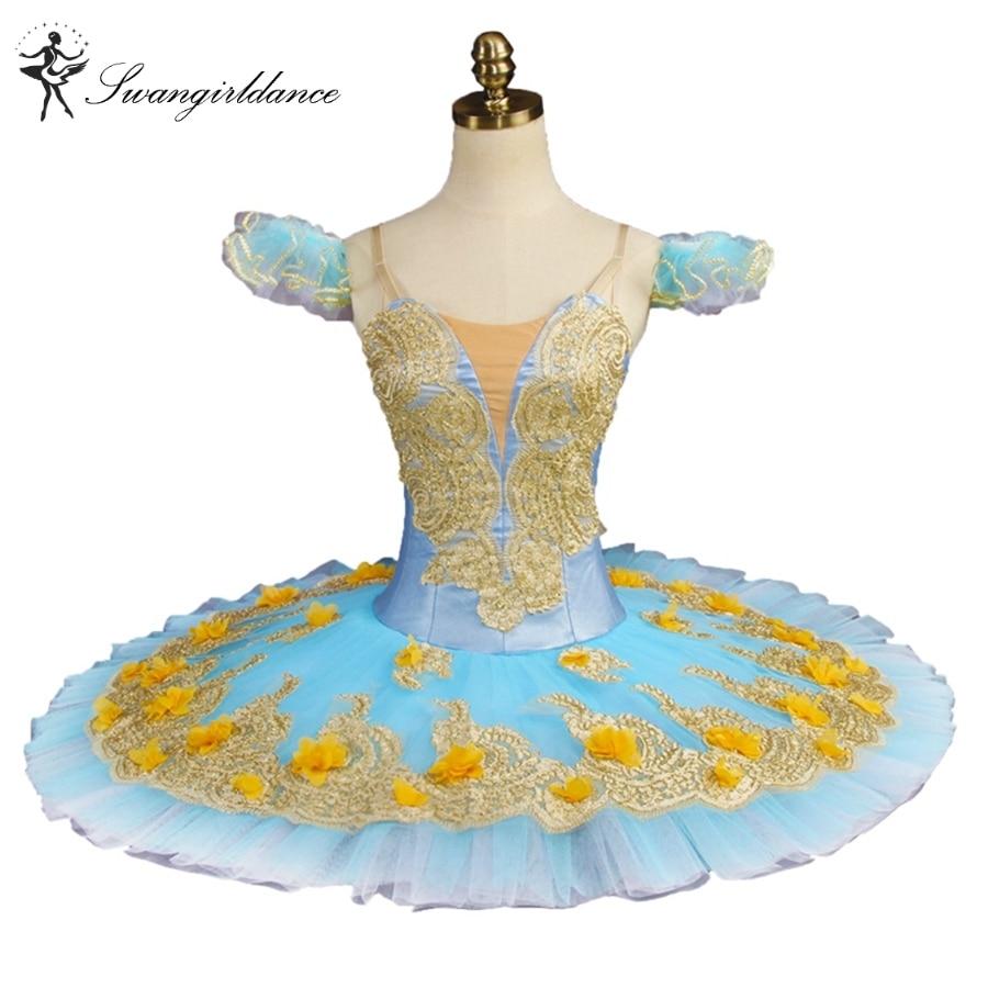 Free shipping Blue Fairy Women Profesional Ballet Tutu Adult Girls Performance professional tutu ballet stage costumes BT9147B