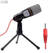 GEVO SF-666 de Micrófono de la Computadora Micrófono de Mano Profesional 3.5mm Jack Con Cable Con Soporte Trípode sf666 Para Escritorio PC Grabadora de Voz