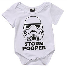 Summe 2017 Toddler Baby Girls Boys Storm Pooper Romper Jumpsuit Short Sleeve Storm pooper Sunsuit