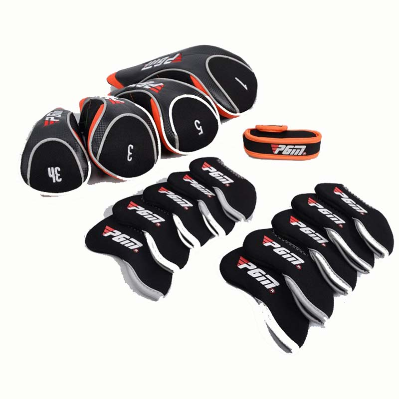 PGM Golf Headgear Complete Golf Wood Club Sets Putter Leather Headcovers Wedge Iron Headgear Finely Processed Protect Neoprene