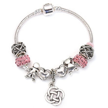 eea81e9b9 SPINNER Angel Style Vintage Four Leaves Grass Dangle Charm Bracelet for  Girl Snake Chain Pandora Bracelet Jewelry