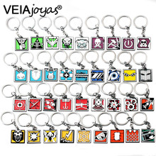 36 Types Shooting Game Rainbow Six R6 Keychains Zinc Alloy Men Car Key Rings Pendants Gift Colorful Charms Jewelry Accessories(China)