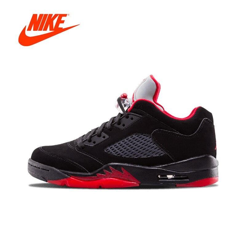 Original Nouvelle Arrivée Authentique Nike Air Jordan 5 Rétro Bas 'Alternate 90' Hommes de Basket-Ball Chaussures Sport Sneakers 819171- 001