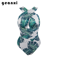 Plus Size One Piece Swimwear 2018 Push Up New Hipster Floral Print Large Swimsuit Women Sexy