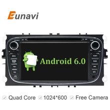 """2 Din 7 """"Mapas de Navegación GPS Android 6.0 Coches Reproductor de DVD En Línea WIFI para Ford focus II Galaxy Tourneo Tránsito Mondeo"""