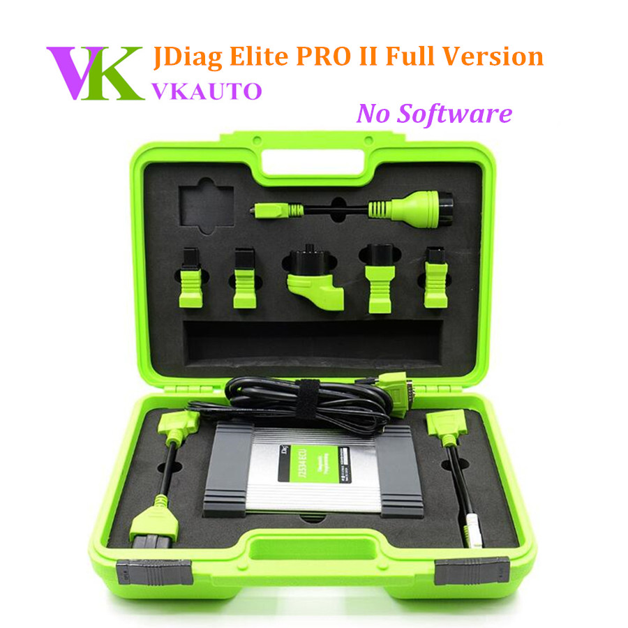 New JDIAG Elite II Pro J2534 Full Version ECU Programming Tool Without Software Free Shipping цены