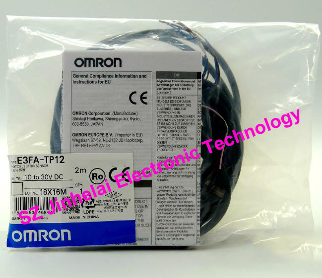 New and original E3FA-TP12, E3FA-DP13  OMRON Photoelectric sensor  10-30VDC  2M [zob] new original omron omron photoelectric switch e3s at11 2m e3r 5e4 2m
