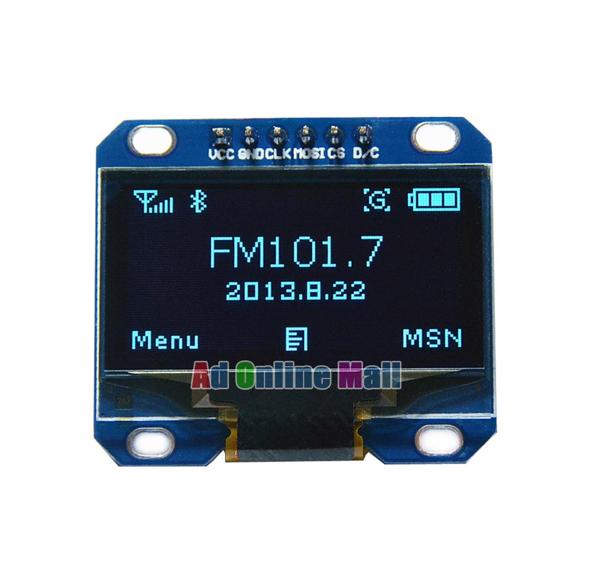 1.3 Inch SPI Blue 128*64 Dot Matrix OLED LCD LED Display Module for Arduino 51 MSP430 STIM32 CSR