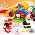 Minitudou conjunto de 66 pcs grandes partículas de blocos de construção de animais duplo tijolo diy brinquedo educativo para as crianças