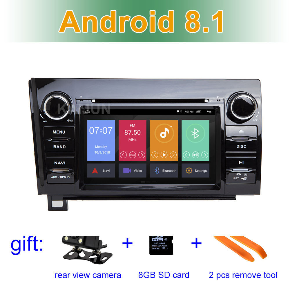 Android 8.1 Car DVD Player for Toyota Tundra 2007-2015 Sequoia with Radio WiFi Bluetooth GPS 7'' IPS Screen Car Stereo audio NAV