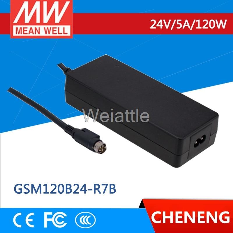 MEAN WELL original GSM120B24-R7B 24V 5A meanwell GSM120B 24V 120W AC-DC High Reliability Medical Adaptor advantages mean well gsm120b12 r7b 12v 8 5a meanwell gsm120b 12v 102w ac dc high reliability medical adaptor