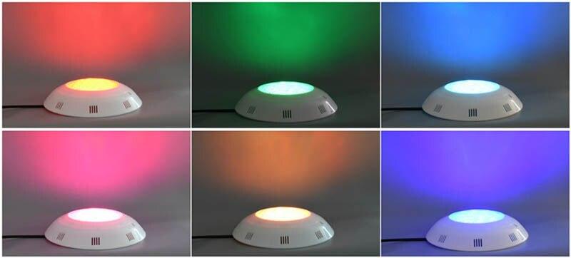 Image 5 - 12 V морской катер Пластик светодиодный свет RGB для использования в грунтовых водах 6 Вт 24 Вт украшения для бассейна лампа IP68 Водонепроницаемый-in Морское оборудование from Автомобили и мотоциклы