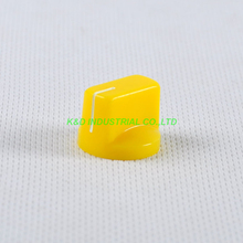 все цены на 10pcs Colorful Yellow Rotary Volume Control Plastic Potentiometer Knob Knurled Shaft Hole онлайн
