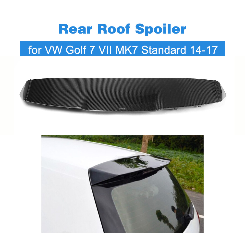Carbon Fiber Car Rear Roof Spoiler Racing Tail Trunk Lip Wing For Volkswagen VW Golf 7 VII MK7 Standard 14-17 Non GTI R