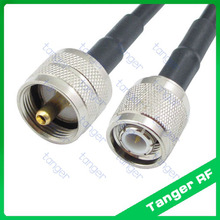 Hot Sale Tanger TNC male plug to PL259 UHF male plug straight RF RG58 Pigtail Jumper Coaxial Cable 3feet 100cm with High Quality