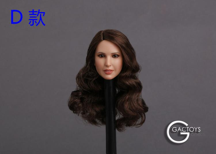 Custom 1/6 Scale Beauty European Girl Head Sculpt Ivanka Trump Head Carving Toy 4 Styles for 12inch Female Action Figure Toys