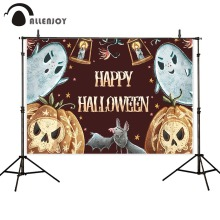 Allenjoy backgrounds for photography studio Halloween party ghosts child pumpkin candle horrible backdrops photobooth photocall