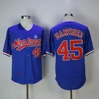45 Martinez Throwback Baseball Jersey 27 Vladimir Guerrero 30 Tim Raines Dawson Carter Stitched Baseball Jersey