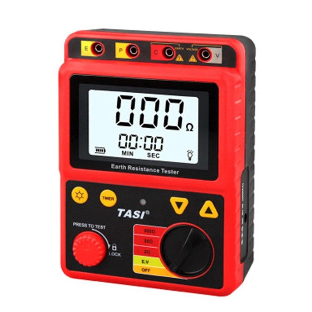 0-2000 High-precision Ohm Digital Earth Ground Voltage Resistance Tester Large Screen Display Megohmmeter Voltmeter high precision diy 3 digital yellow led display voltmeter multimeter 0 99 9 v