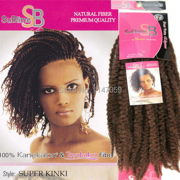 Free Shipping 3pcslot Marley Twist Braid Syntetic Fiber Hair