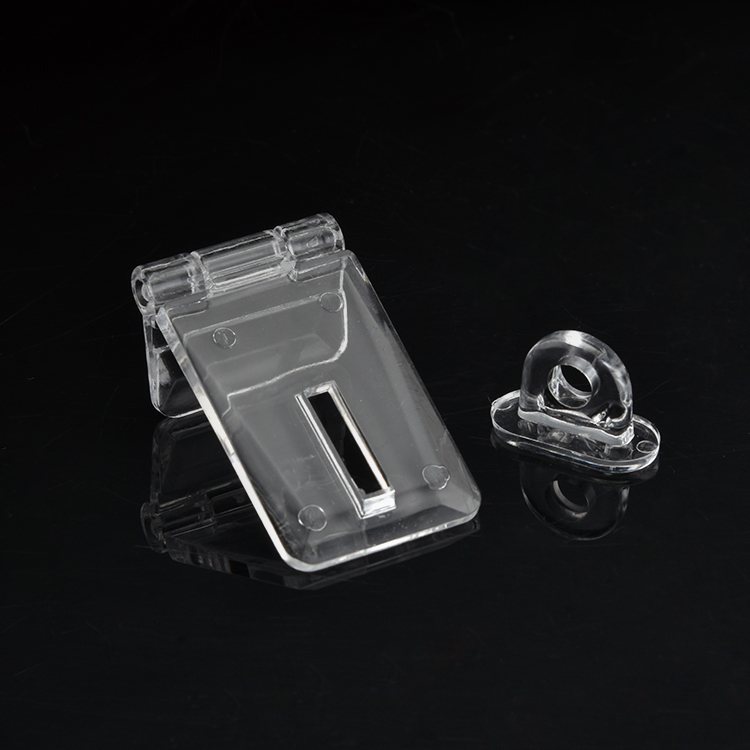 5 pairs Acrylic transparent hinge hinge corner hinge lock catch door lock buckle lock for box drawer lock thickness 3mm