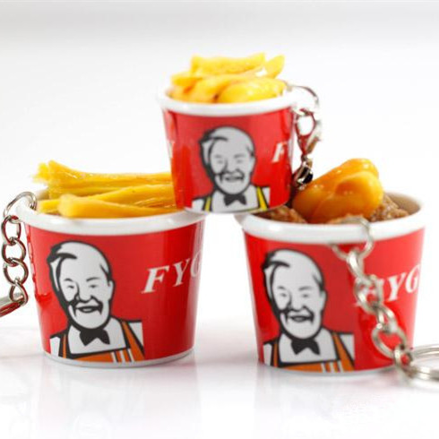 2pcs <font><b>1</b></font>:<font><b>6</b></font> <font><b>Scale</b></font> Miniature Dollhouse Pretend food bucket Fast Food for Dollhouse Decor Chips for blyth Doll <font><b>Accessories</b></font> for barbie image