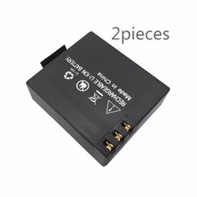 2pcs 3.7V Black Sport Camera Lithium Battery For EKEN H9 H9R H3 H3R H8PRO H8R H8 pro V8S SJ4000 SJ5000 action camera
