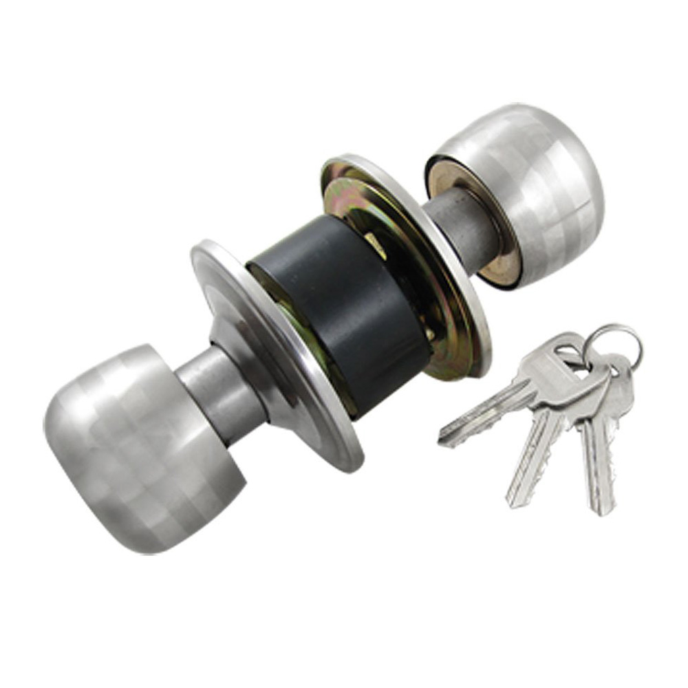 Hot sale in stock new silver tone black bedroom door - Bedroom door knobs with key lock ...