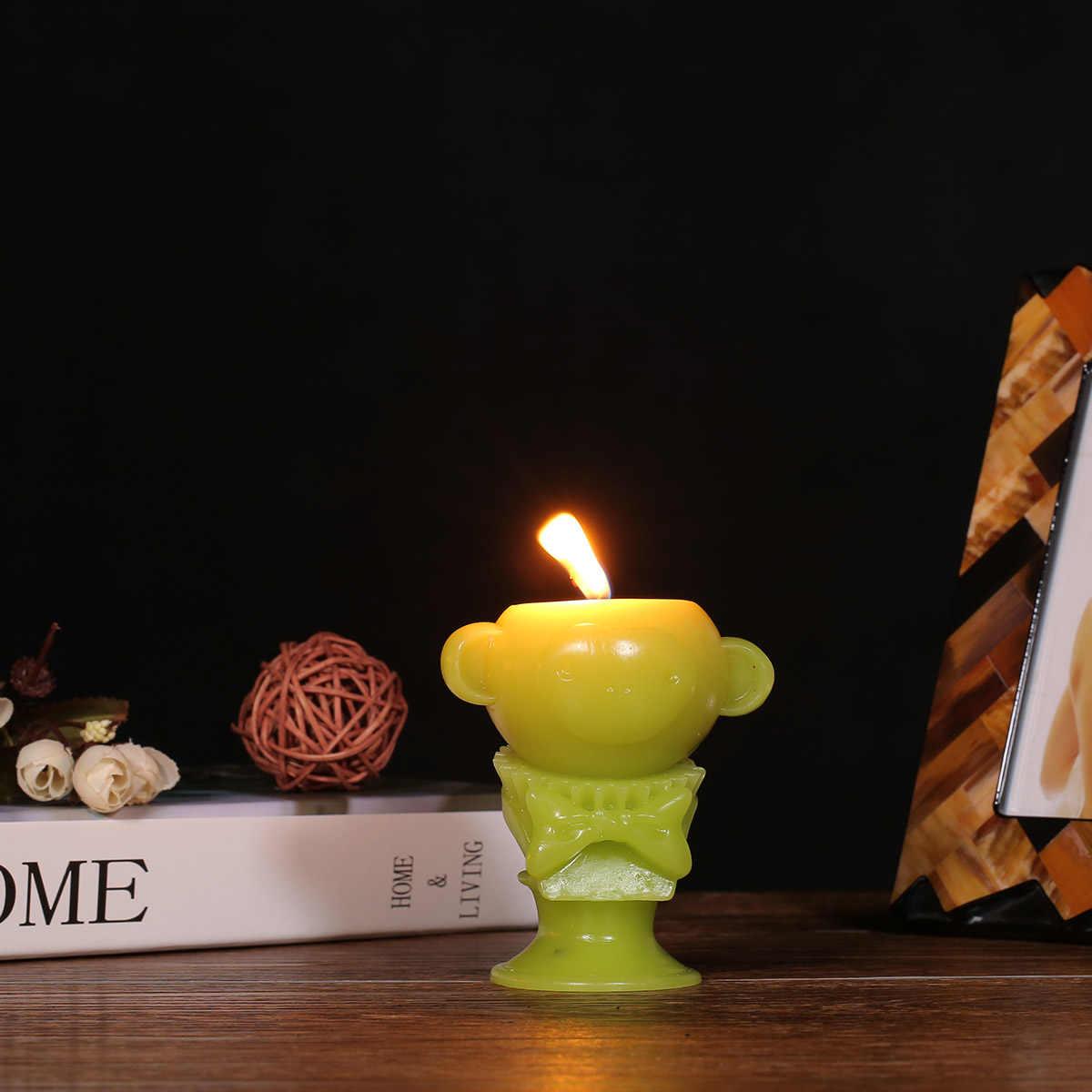 Tooarts свечи ароматические свечи зеленая обезьяна Tomfeel Скелет животного домашний декор воск натуральный фитиль из хлопка день рождения
