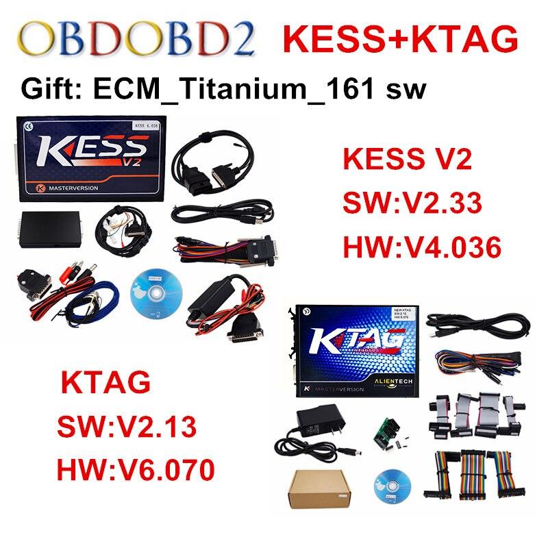 Set completo V2.13 KTAG ECU Programmatore + V2.33 KESS V2 V4.036/V5.017 gestione Sintonia Kit K TAG No Gettoni K-TAG V6.070 Maestro Version