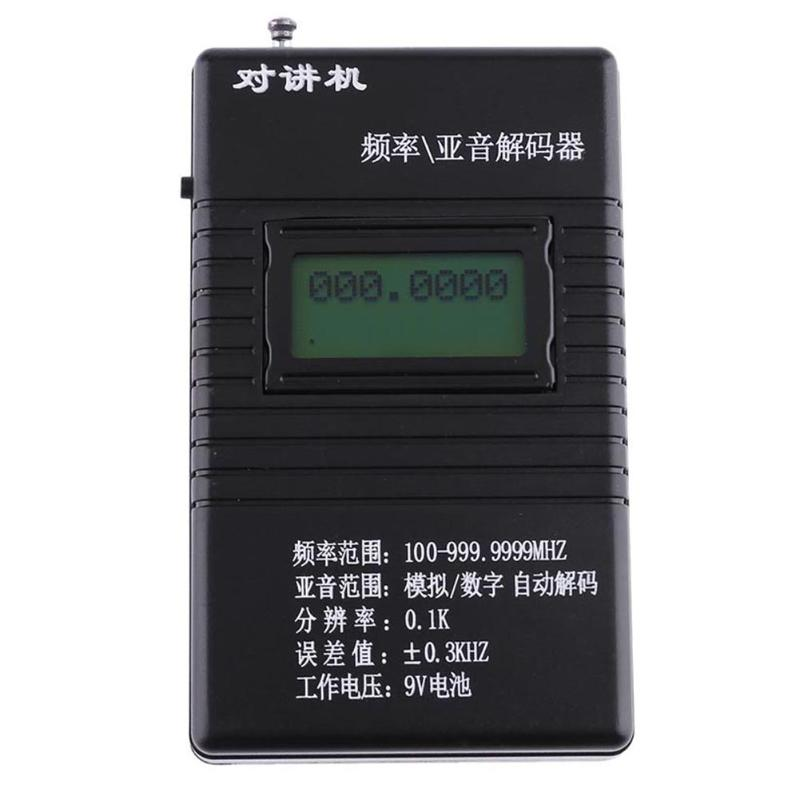 50MHz-2.4GHz RK560 Black Handheld Digital Frequency Counter DCS CTCSS Radio Testing Meter Counter 9V Battery Electrical Tool