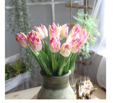 10PCS Artificial Flowers Tulips Bouquet Fake Vivid Real Touch Flower Tulip for Home Wedding Decoration