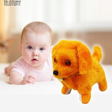 TELOTUNY baby electric plush toy dog sMusic Light Cute Robotic Electronic Walking Pet Dog Puppy Kids Toy Z0123(China)