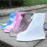 High Quality Unisex Rain Waterproof Boots Cover Heels Boots Reusable Shoes Covers Thicker Non-slip Platform Rain Boots