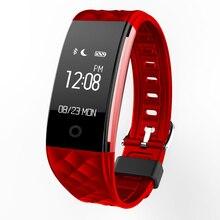 Bluetooth IP67 Водонепроницаемый Smart пульсометр здоровья Браслет фитнес-трекер Браслет для Android IOS женские часы