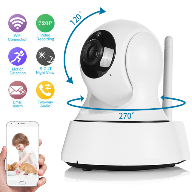 INQMEGA 720P Pan Tilt Security IP Camera WiFi Home Security CCTV Camera with Night Vision Two Way Audio P2P Remote View wireless 720p pan tilt wifi network home security cctv ip camera ir night vision webcam two way audio