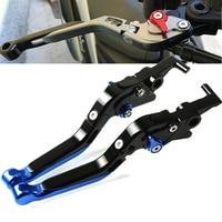 For Suzuki GSXR1000 GSXR 1000 K1 K2 K3 K4 2001 2002 2003 2004 Motorcycle Adjustable Folding Extendable Brake Clutch Lever Black