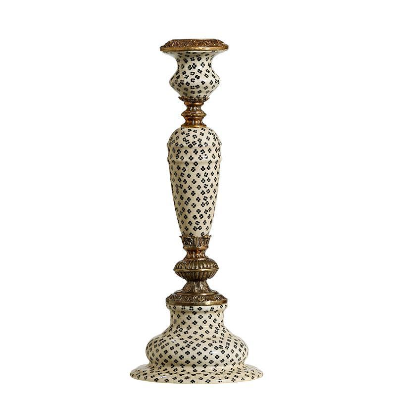 European Style Ceramic Candlestick Luxury Porcelain and