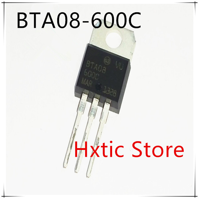 10pcs/lot BTA08-600C TO-220 8A 600V BTA08-600 TRIACS