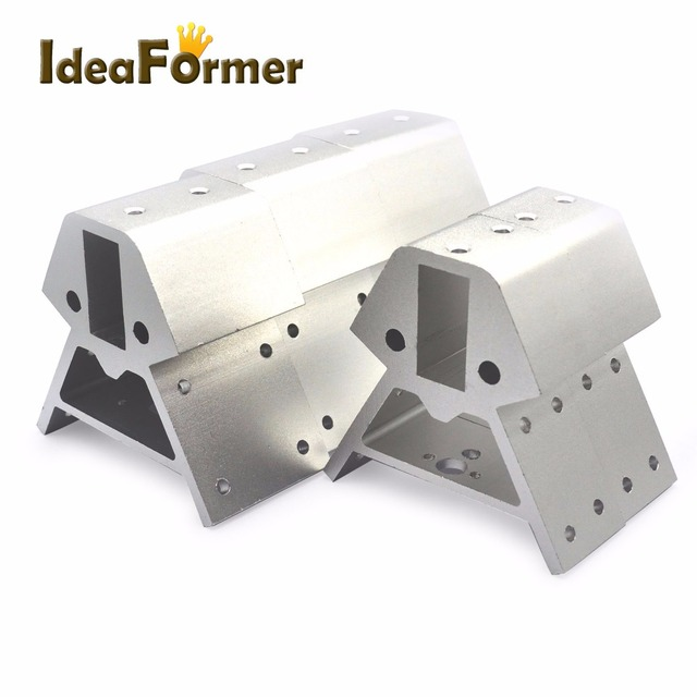 Kossel XXL 3D printer parts silver Vertex 3pcs bottom+3pcs top 1 set high quality 2040 Aluminum Alloy Corners profile