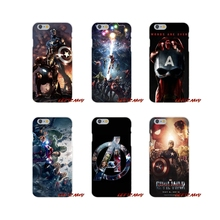 Cute Skin Marve Marvel's The Avengers For Samsung Galaxy S3 S4 S5 MINI S6 S7 edge S8 S9 Plus Note 2 3 4 5 8 Silicone Case Covers