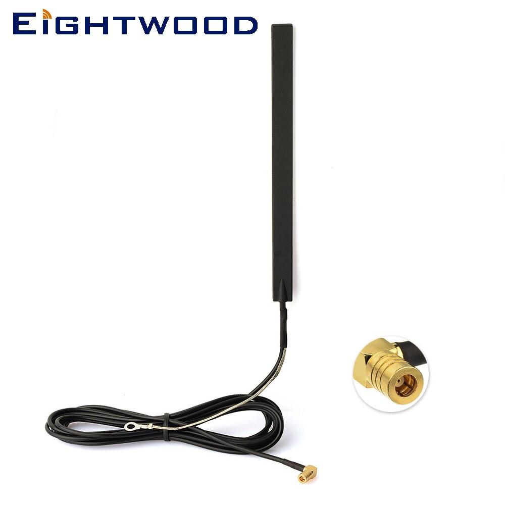 Eightwood DAB + FM/AM Voiture Radios Amplifiée Antenne Interne Verre Montage SMB Connecteur 300 cm pour JVC Pionnier alpine Kenwood Clarion