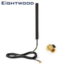 Eightwood DAB+FM/AM Car Radio Antenna Amplified Aerial Internal Glass Mount SMB Connector for JVC Pioneer Alpine Kenwood Clarion